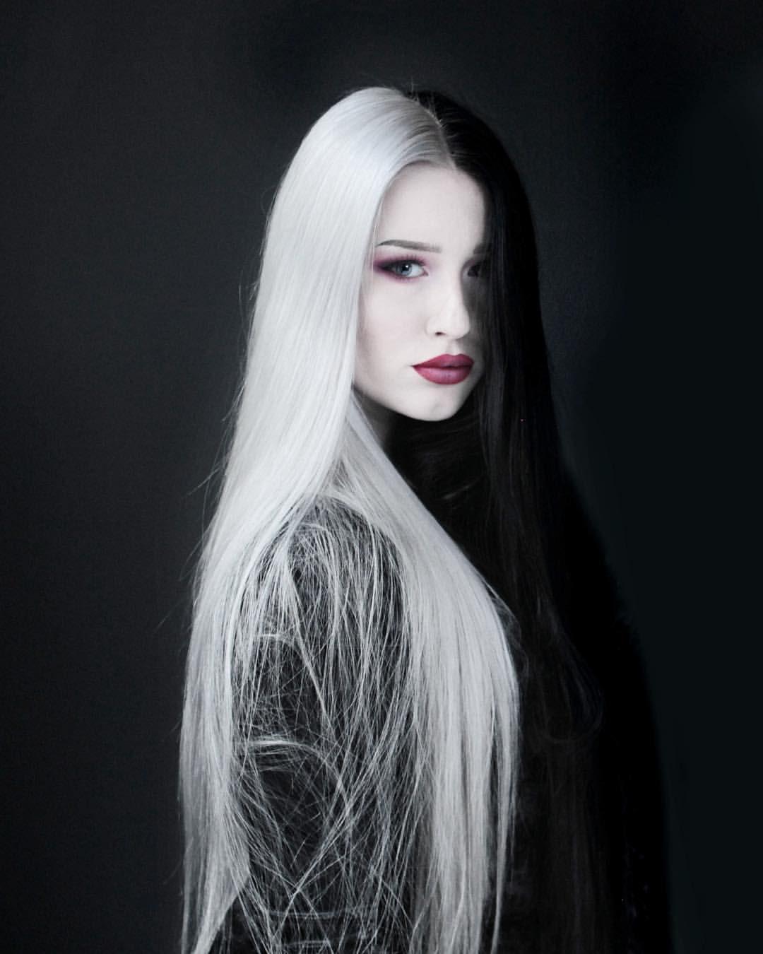 White girls with long black hair — 1