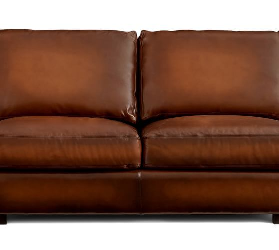Charmant Turner Square Arm Leather Sofa | Pottery Barn