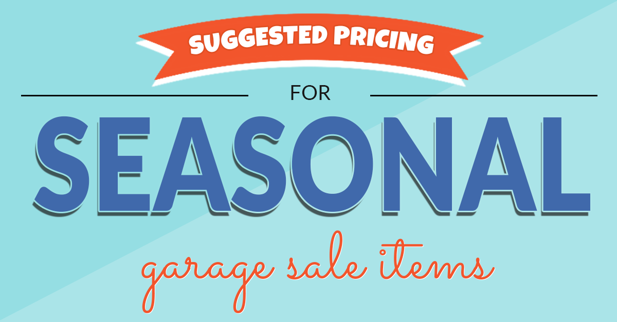 Garage Sale tips and a handy price guide to help you buy
