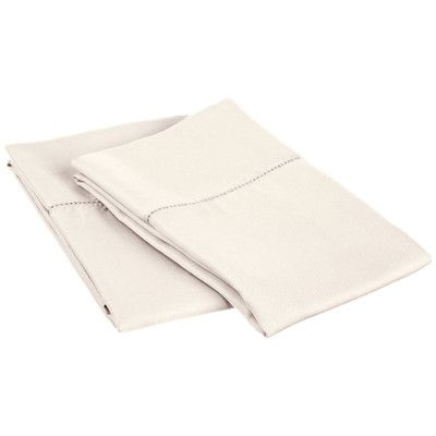 Darby Home Co Freeburg Cotton Rich 600 Thread Count Pillowcase Size: Standard, Color: Ivory