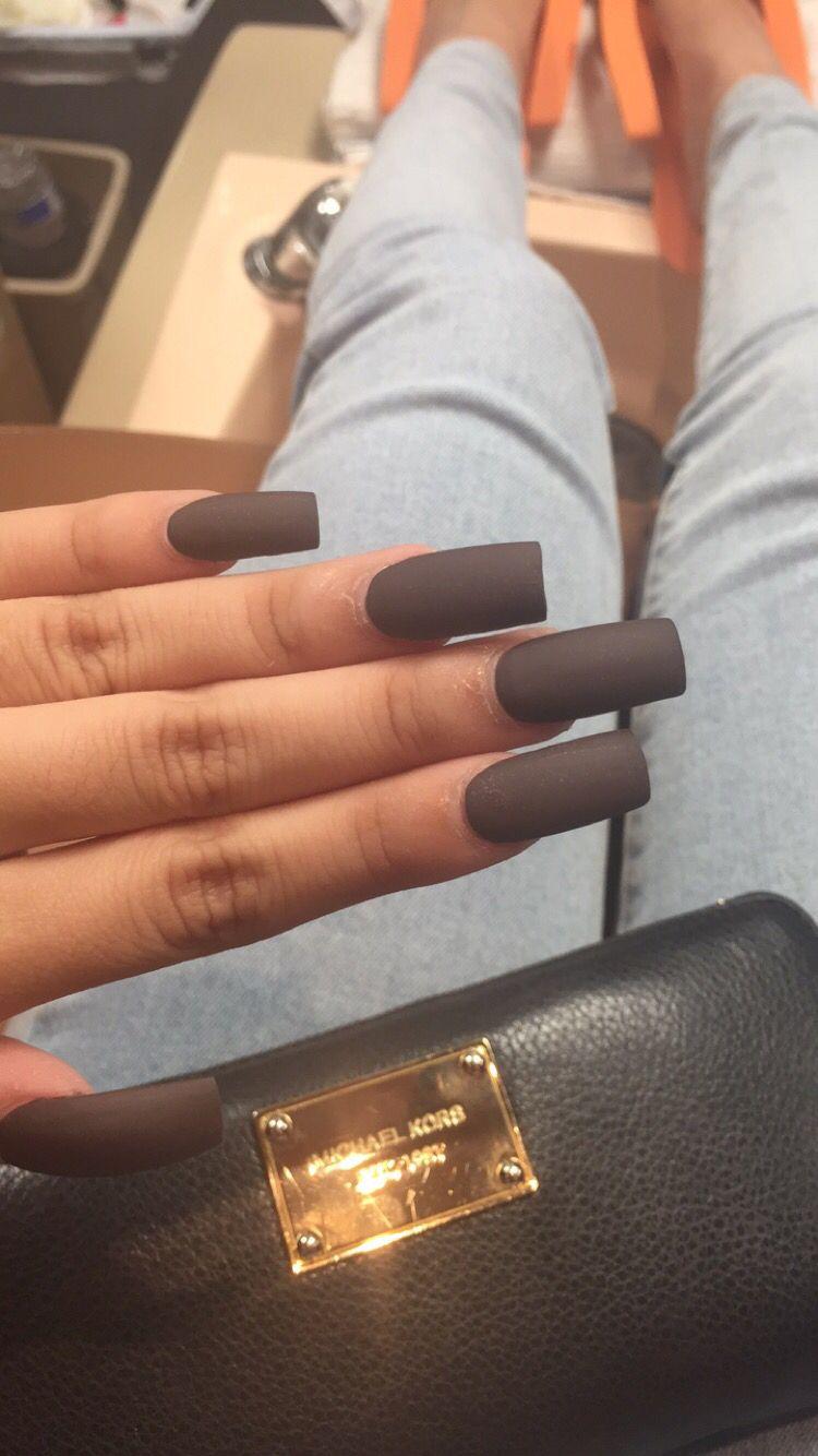 Matte Grey Acrylic Nails Grey Acrylic Nails Elegant Nails Acrylic Nails