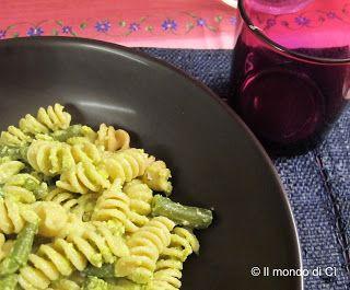 Pasta al Pesto di basilico, patate e fagiolini