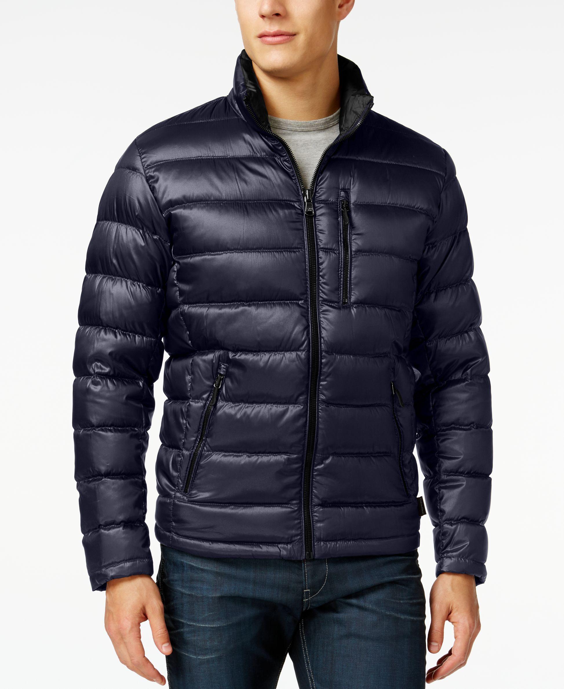 76884e404cd Calvin Klein Men's Packable Down Jacket | jackets | Jackets, Calvin ...