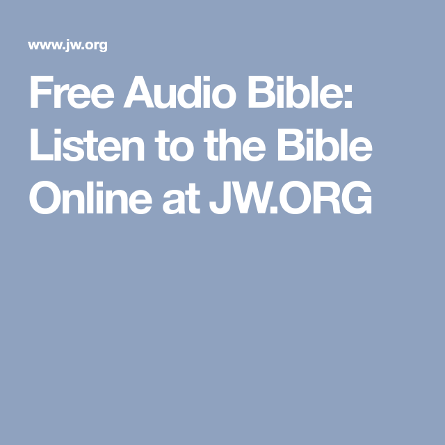 Free Audio Bible Listen To The Online At