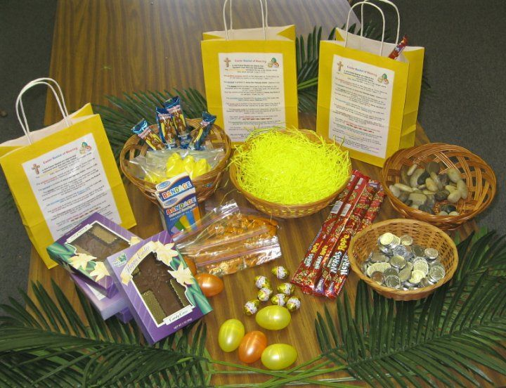 Robertas random ramblings art assemblages and stuff easter basket meaning of the grass each item in it negle Image collections