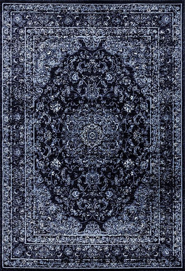 Amazon Com Persian Area Rugs 3212 Navy 8x10 Area Rug