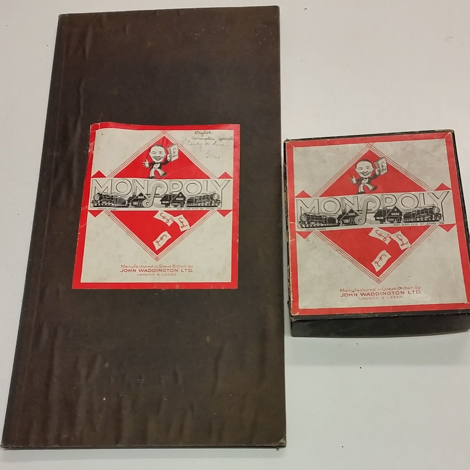 Vintage 1930s monopoly game patent applied for 379636