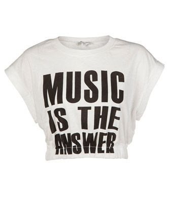 83f956417754c Glamorous Music Crop T-Shirt Republic £17