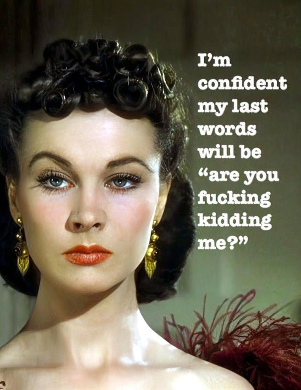 Scarlett O'Hara FUNNY ANY OCCASION Card,
