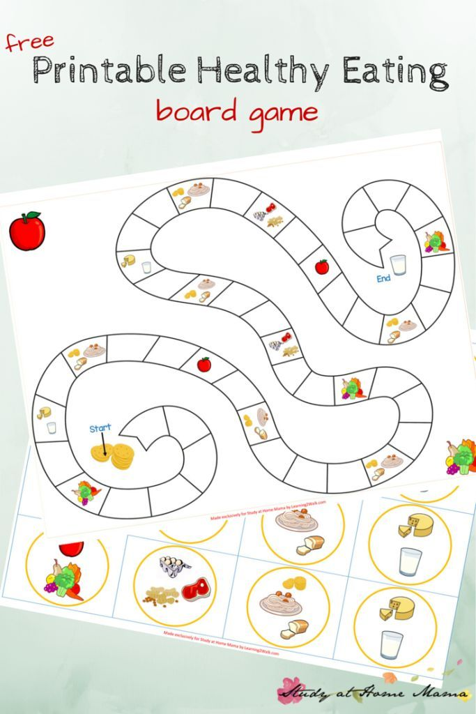 kids kitchen free printable board game for teaching kids about healthy eating includes info - Printable Kids