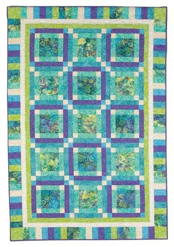 Batik Fabric Quilt ~ great color combinations of blues, greens and ... : white batik quilt fabric - Adamdwight.com