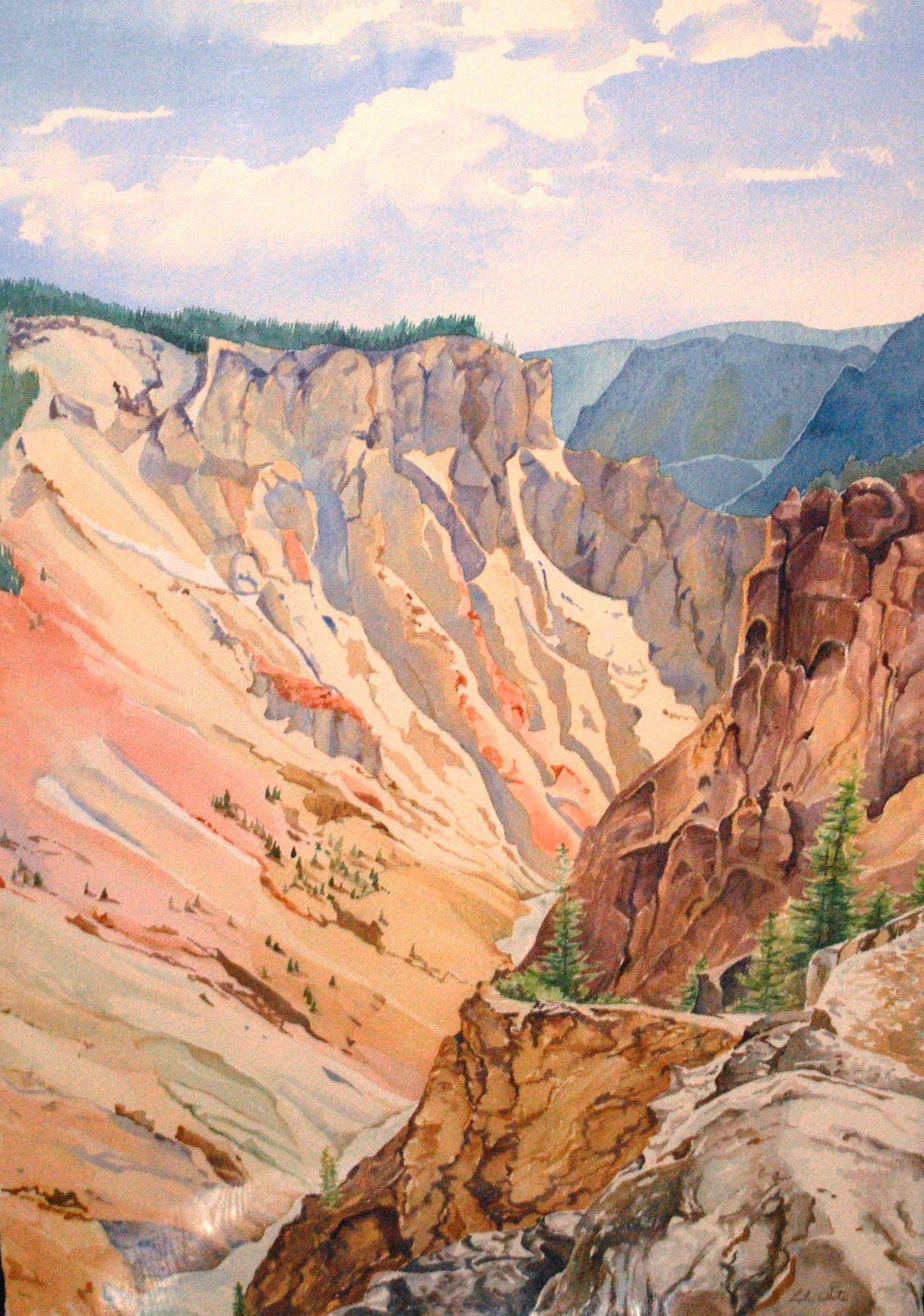 """""""Grand Canyon of Yellowstone"""" by Leslie White"""