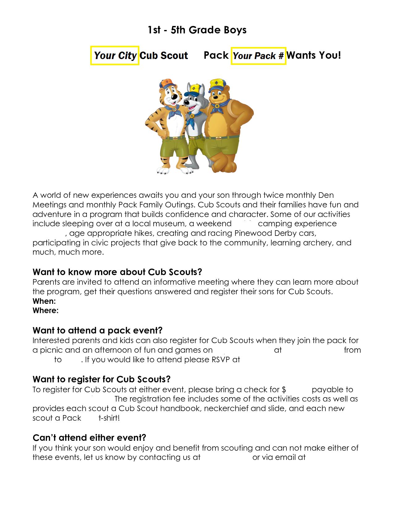 Cub Scout Round Up | Cub Scout & Boy Scout Ideas | Cub