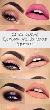 Photo of 20 top exclusive eyeshadow and lip makeup look, #appearance #exclusive # eyeshadow …