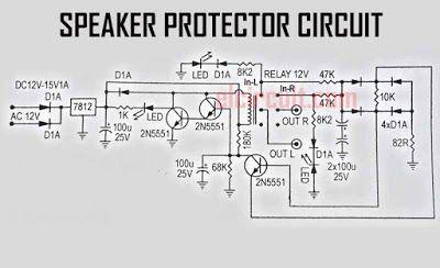 speaker protector 3 transistors en 2018 electronics pinterest rh pinterest com