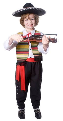 Kids Mexican Mariachi Dress Up Costume  sc 1 st  Pinterest & Boys Mexican Mariachi Costume | Pinterest | Mexican mariachi and ...