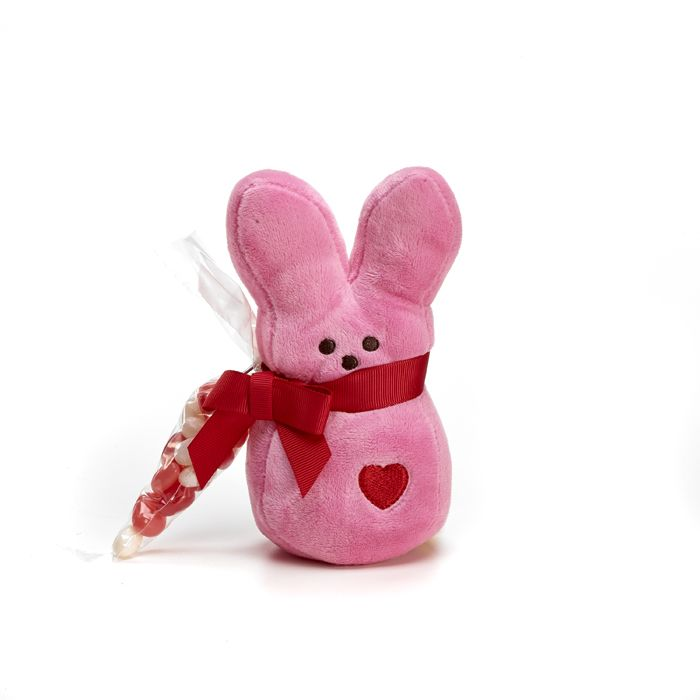"""peeps valentine's day bunny with carrot - 5 inch 
