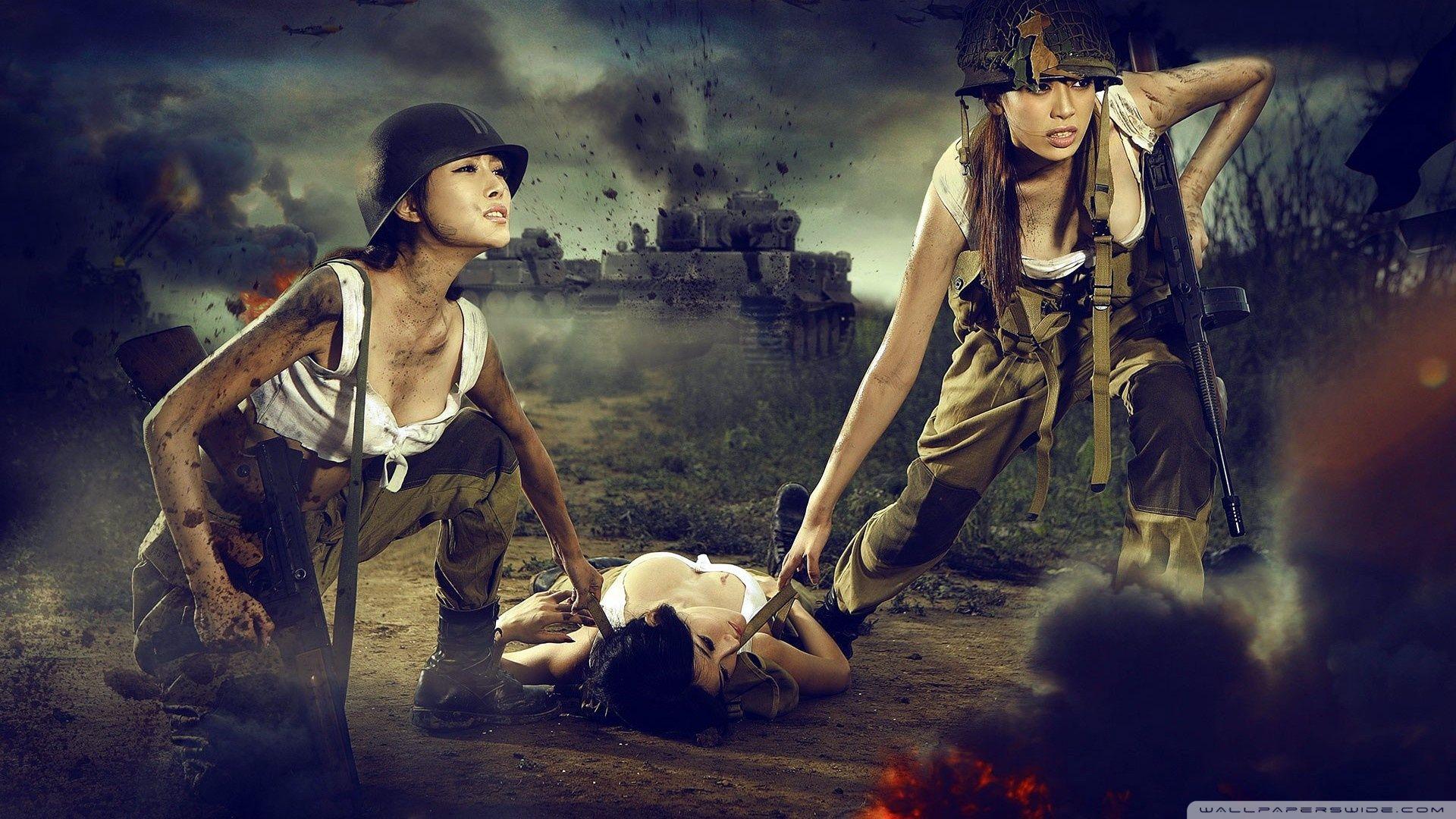 Girl Wallpaper, Army