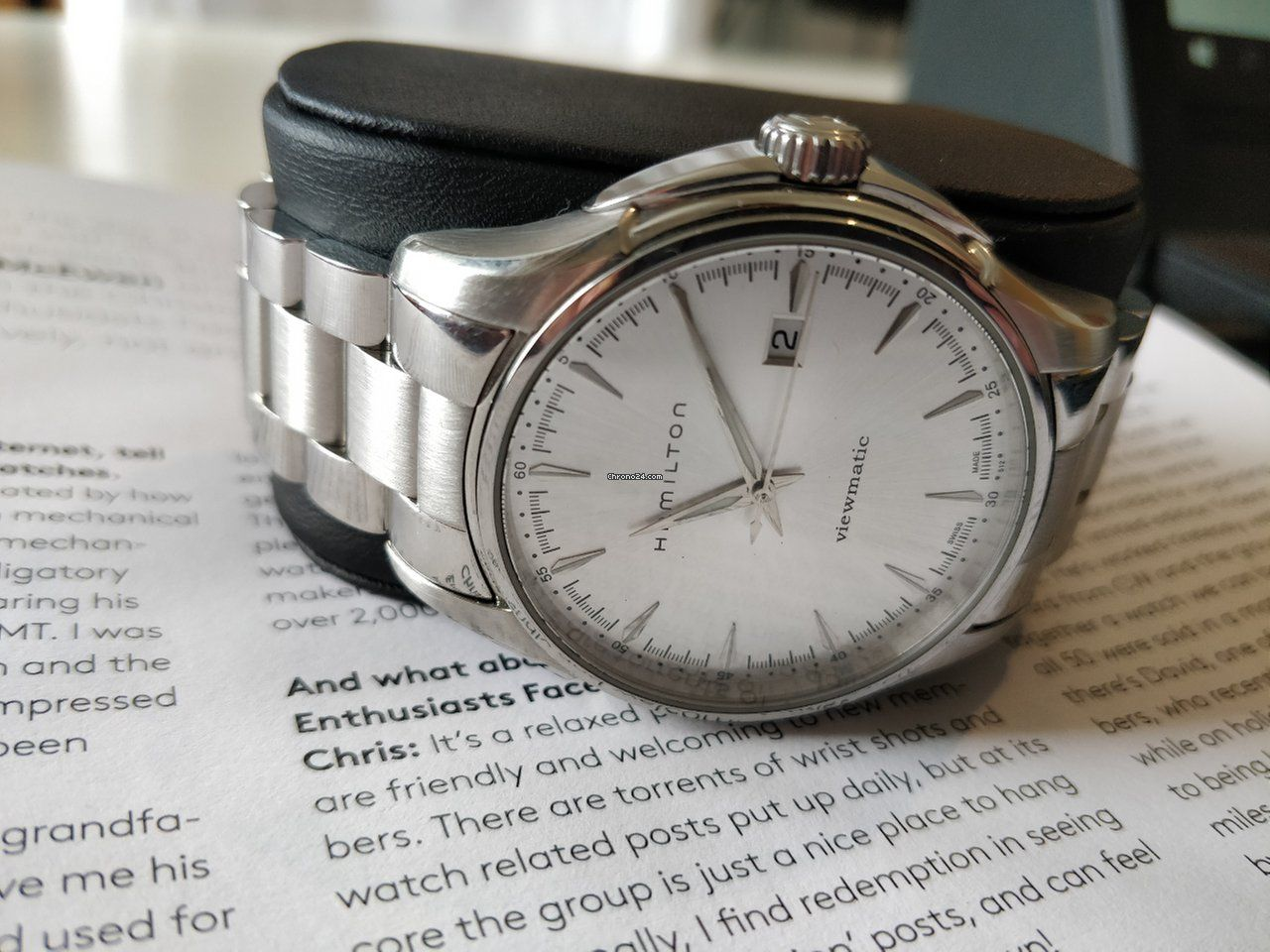 6baaf0fd86130  396 • 38mm • Hamilton Jazzmaster Viewmatic Reference number H326650   Steel  Automatic