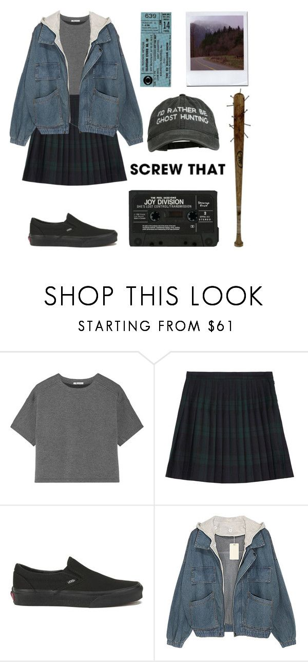 """yeah, screw that"" by still-pretty ❤ liked on Polyvore featuring T By Alexander Wang, McQ by Alexander McQueen and Vans"