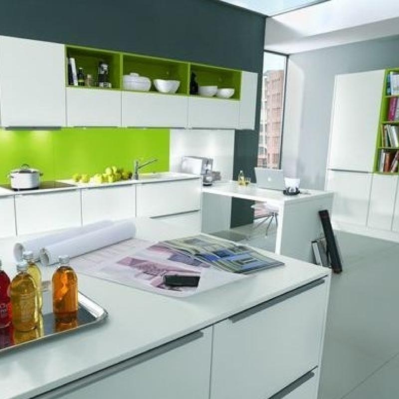 Esta es una propuesta interesante para combinar el color - Combinar colores cocina ...