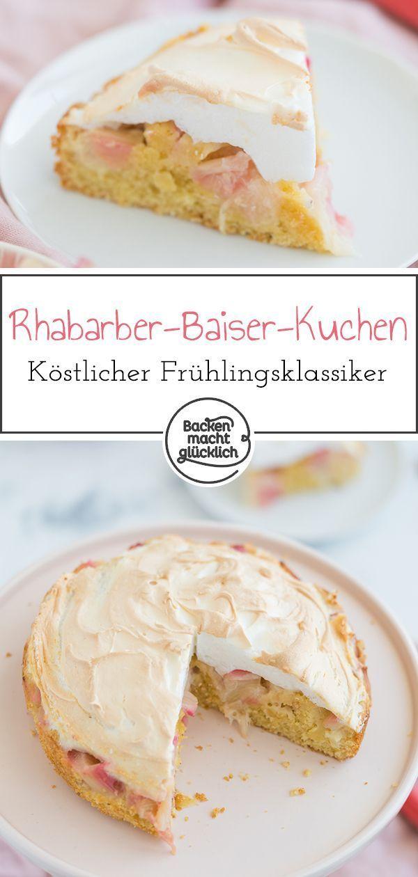 Rhabarberkuchen mit Baiser | Backen macht glücklich