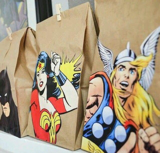 Sacolinhas - super heróis