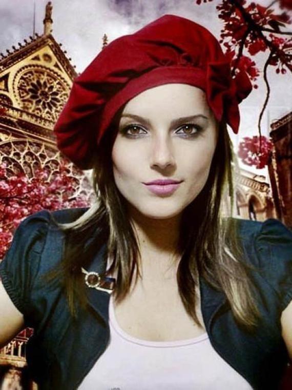 BOINA FRANCESA vermelha VELUDO Boina Feminina a0b6482f222