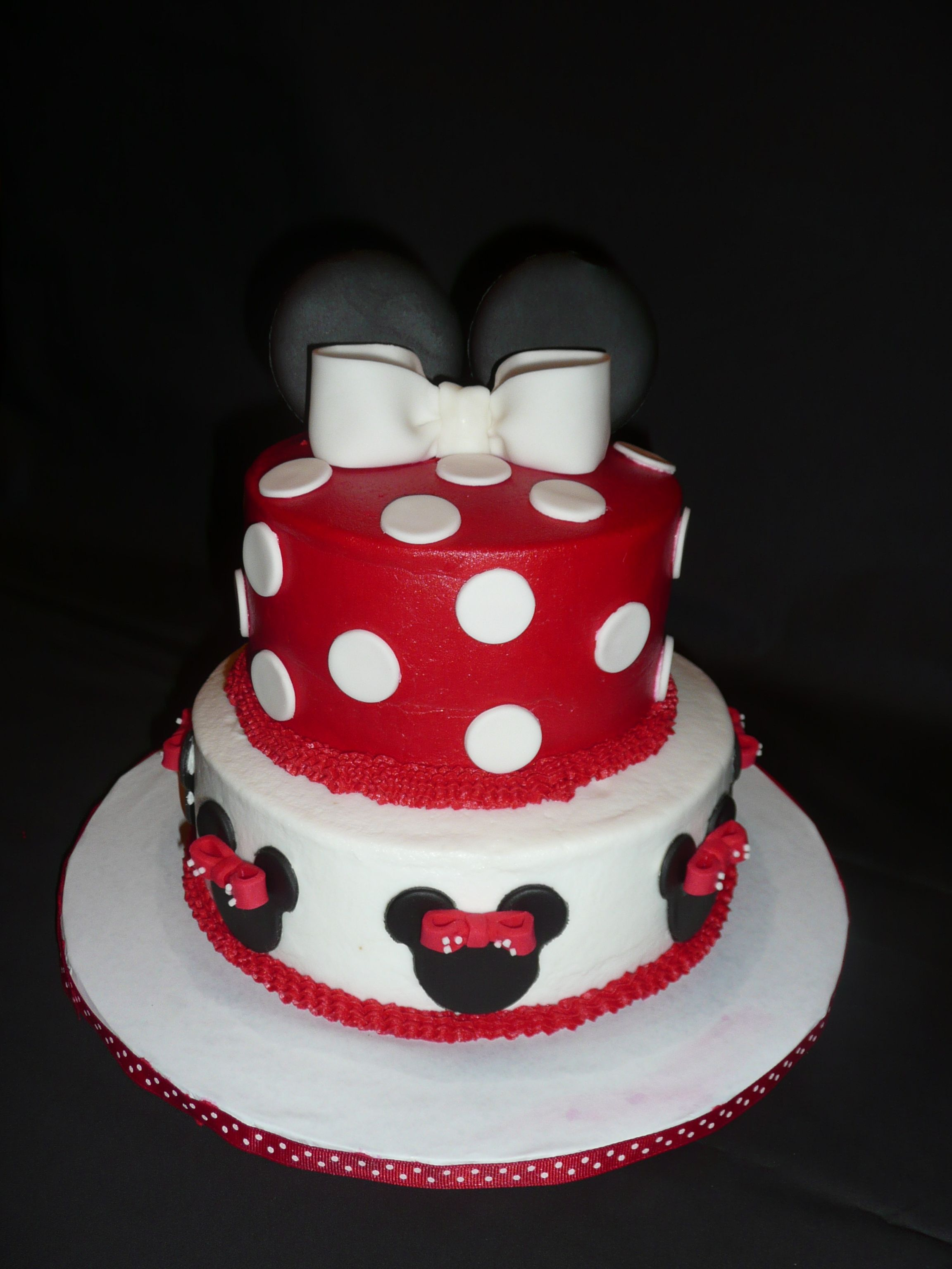 Red Minnie Cake ( By Dee ) Cakes Pinterest Mice, Minnie cake - Minnie Mouse Halloween Decorations