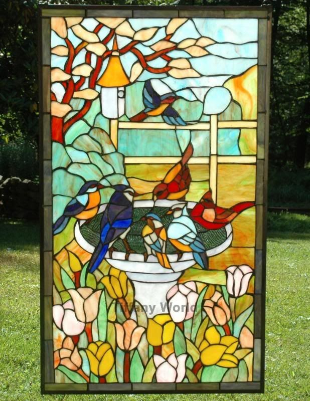 Birds In Stained Glass Windows