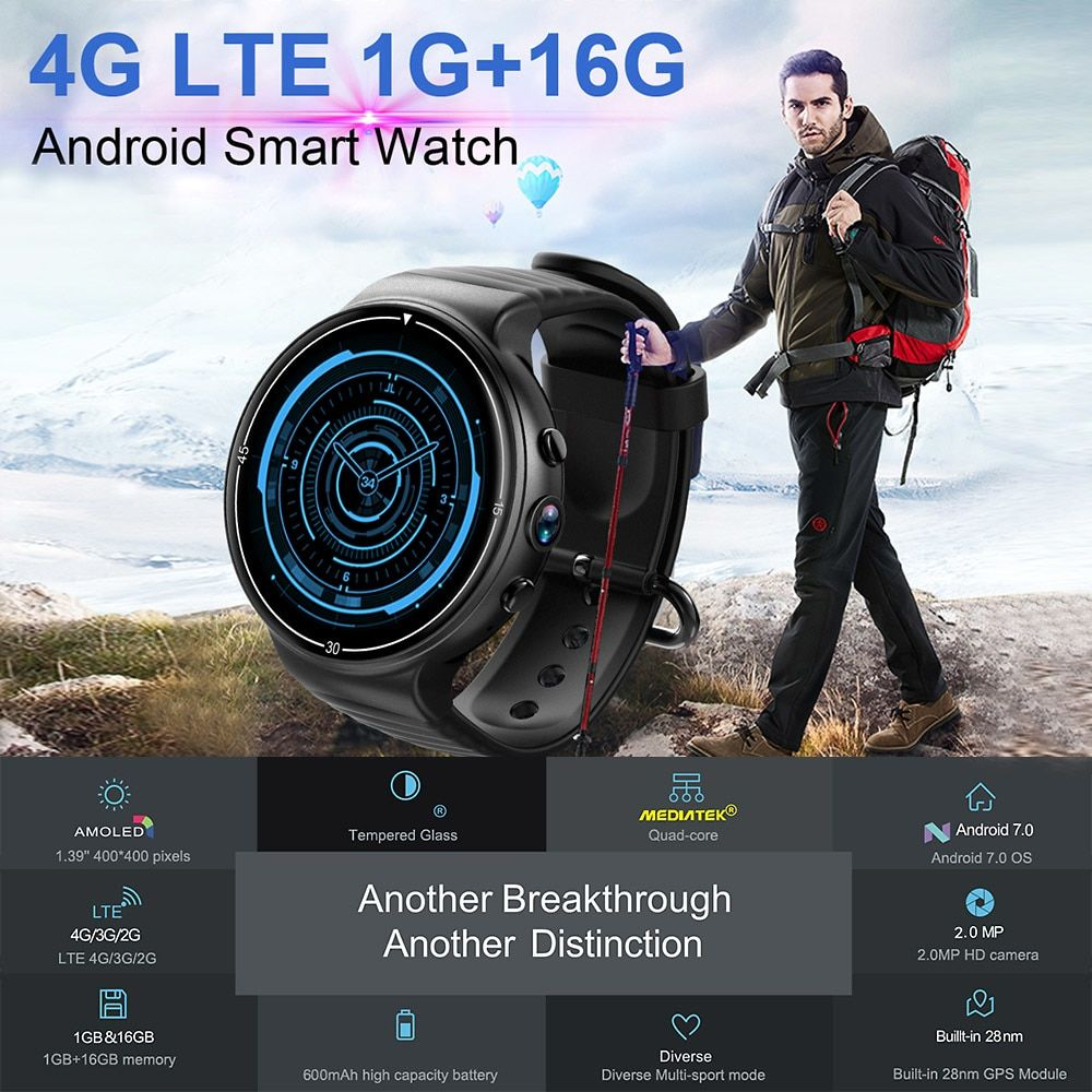bfaa367d7e1a5 IQI I8 4G Android 7.1.1 Always Time Display Smartwatch: One Minute Review