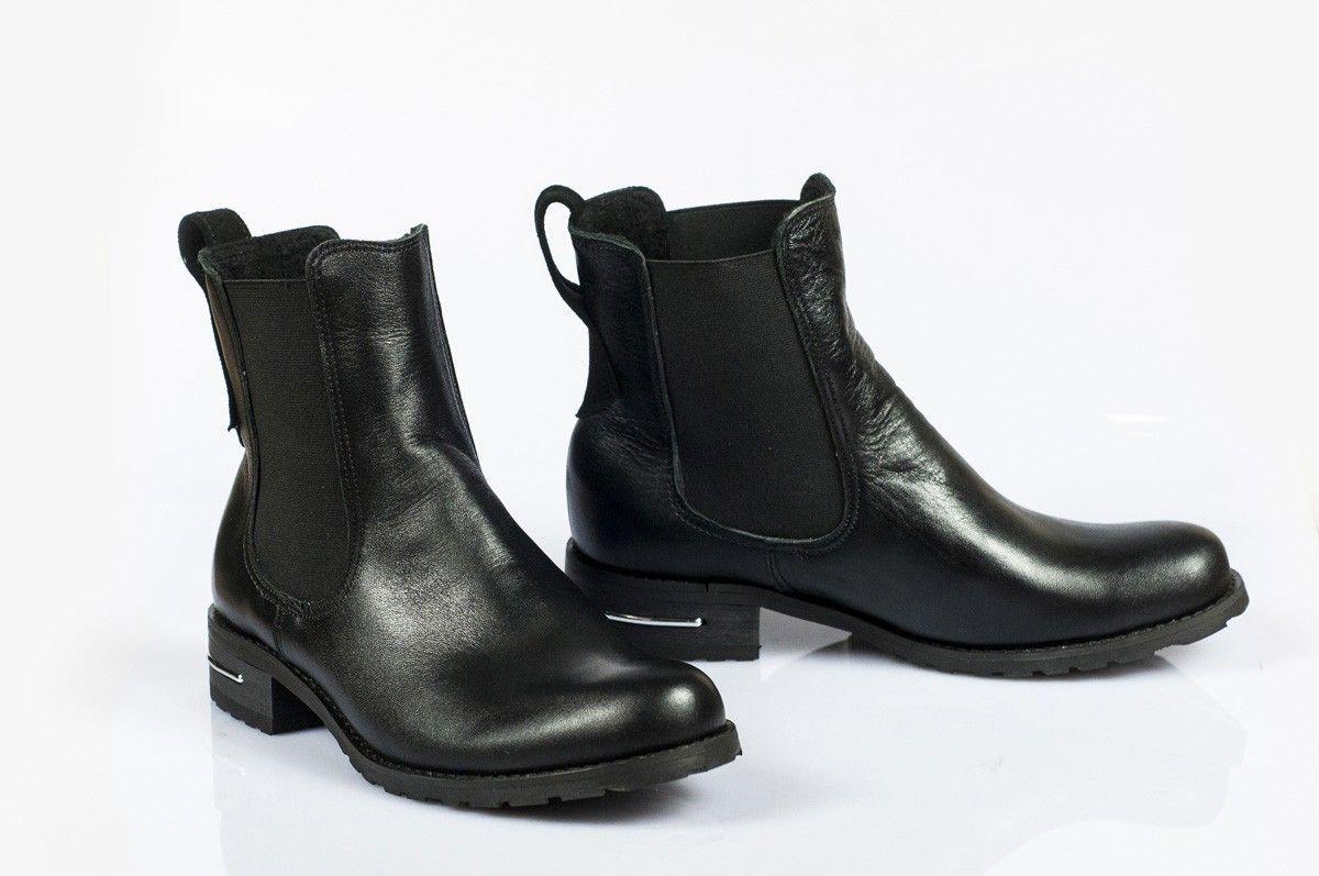 Eleganckie Sztyblety Dla Kobiet Wykonane Ze Skory Naturalnej Chelsea Boots Boots Shoes