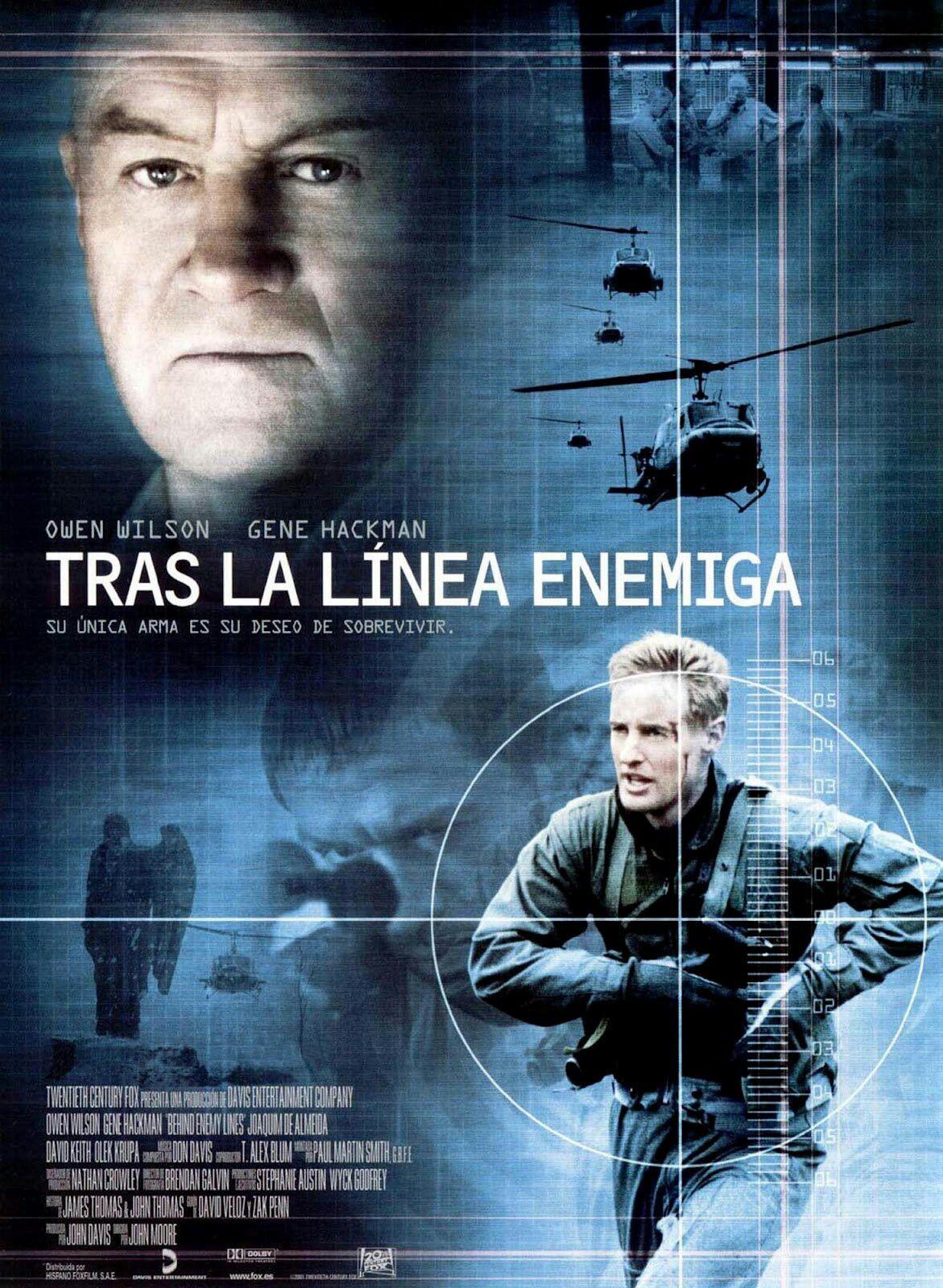 Tras La Linea Enemiga 2001 Action Movie Poster 2001 Movie Poster Owen Wilson