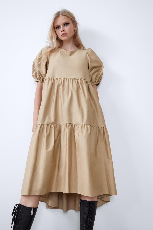 Asymmetric Poplin Dress View All Dresses Woman Zara Oman Dresses Poplin Dress Long Black Dress [ 1500 x 1000 Pixel ]