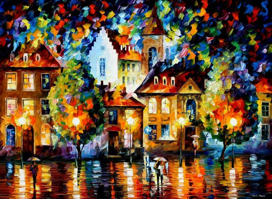 LUXEMBURG NIGHT - AFREMOV by *Leonidafremov