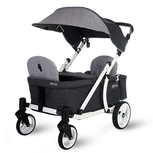 Pronto One Stroller Grey with white frame Starter