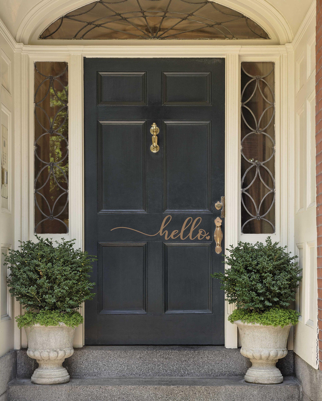 New Home Decor Housewarming Gift Vinyl Decal for Front Door,Door sign Hello Front Door Sticker Front Door Sign Welcome Sign vinyl Decal