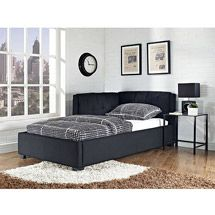 Tufted Lounge Reversible Twin Bed Black 189 Walmart