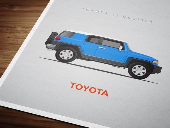 Toyota Fj Cruiser 8x10 Inch Unframed Print Multiple