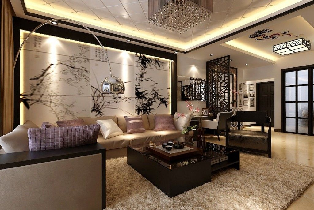 Home Design Accessories Modern Living Room Decor Meet Chinese Style Wall Art And Wood Carved