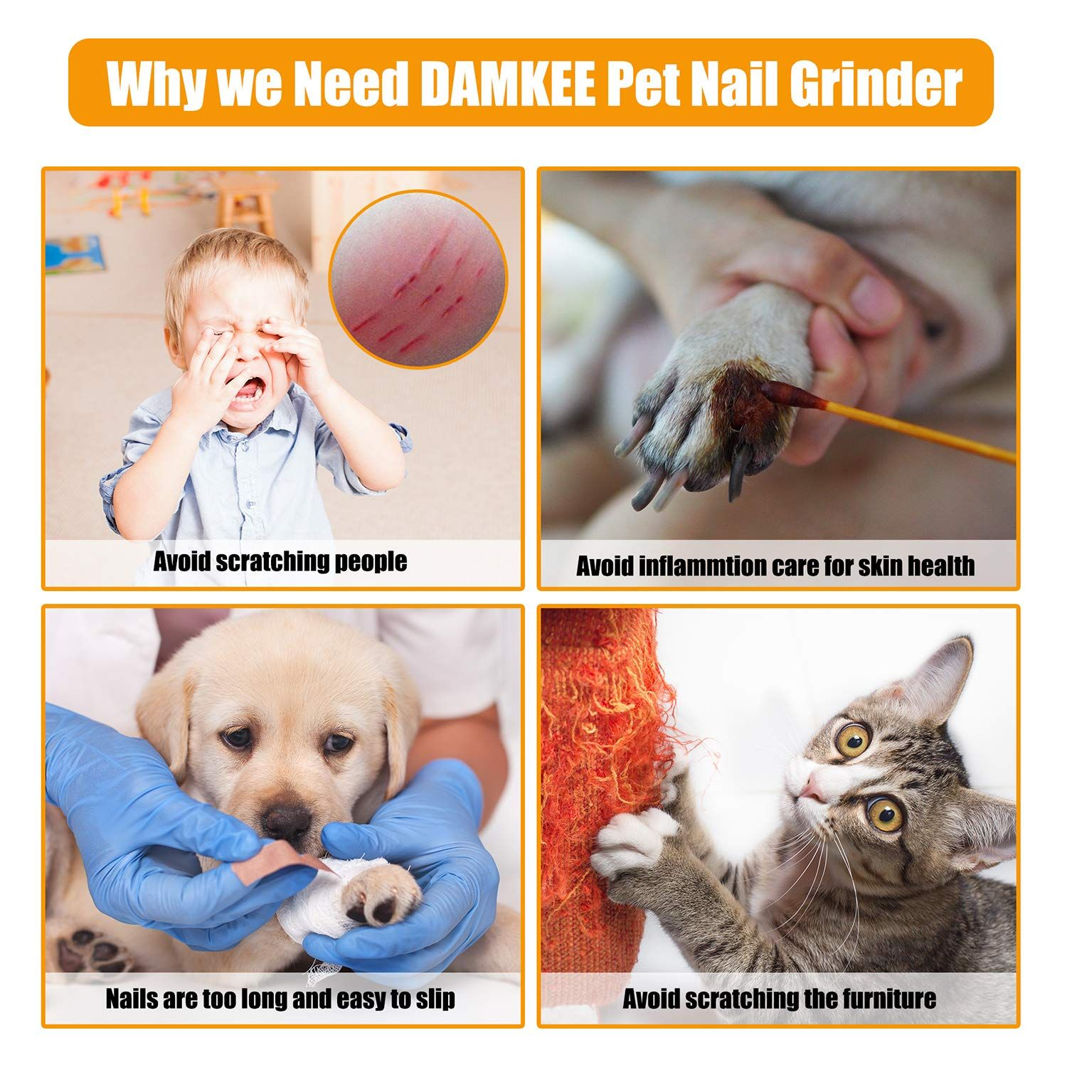 Safe andamp; Effective. This electric dog nail grinder