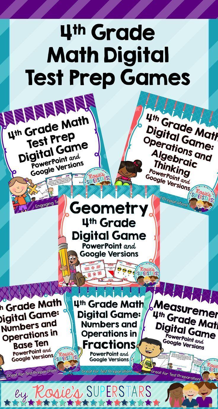 4th Grade Math Digital Test Prep Digital Game Bundle ~PowerPoint ...