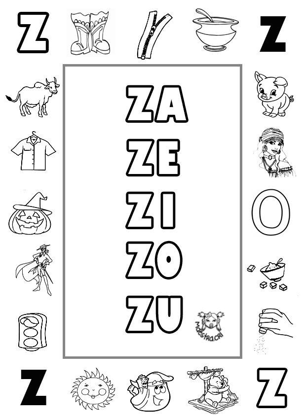 Lecto-escritura. Letra Z | ejercicios niños | Pinterest | Spanish ...