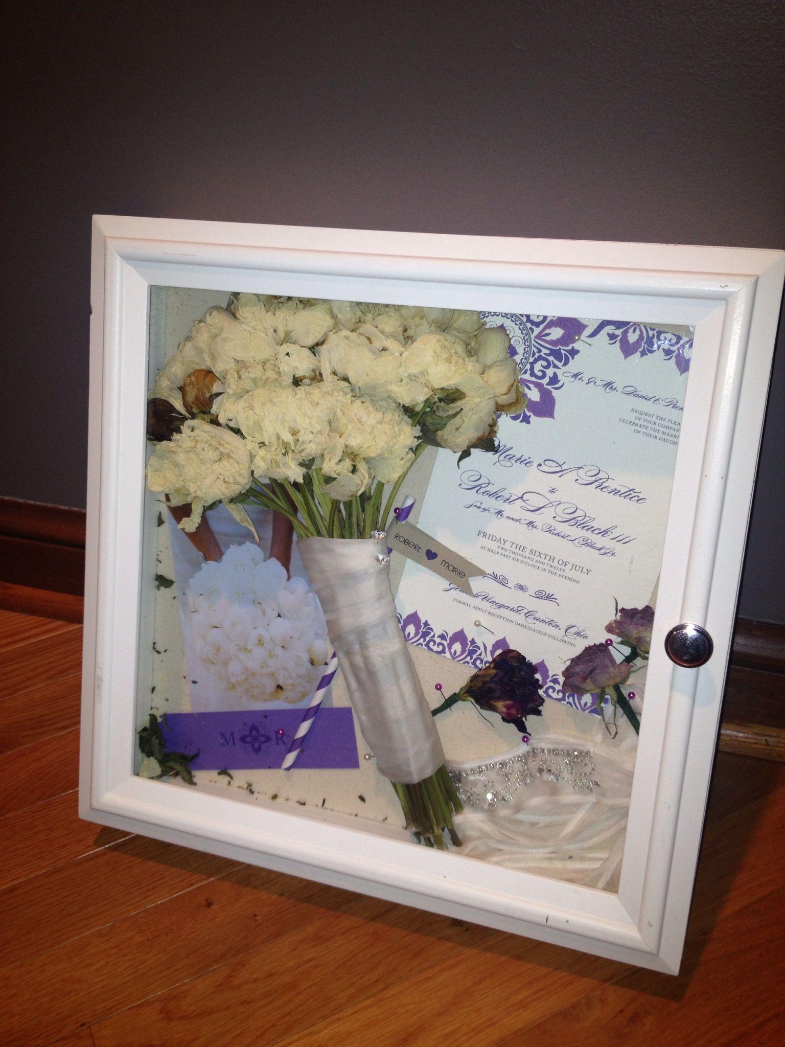 Shadow box from our wedding day diy weddingday