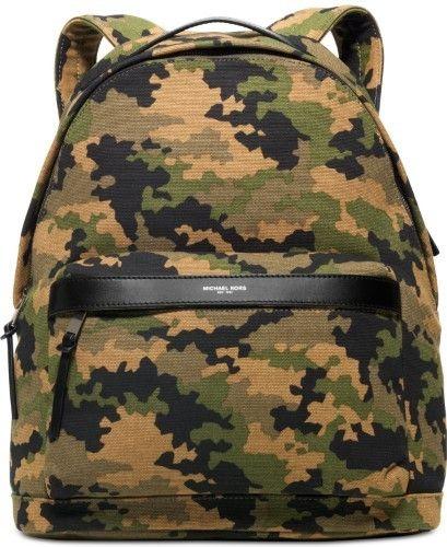 b60b4491c661 ... closeout michael kors green black mens canvas grant camo print backpack  7d90a a9cdd
