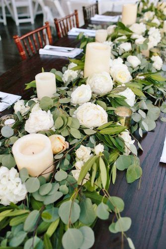 30 greenery wedding decor ideas budget friendly wedding trend salas greenery wedding centerpieces ideas 2 junglespirit Image collections