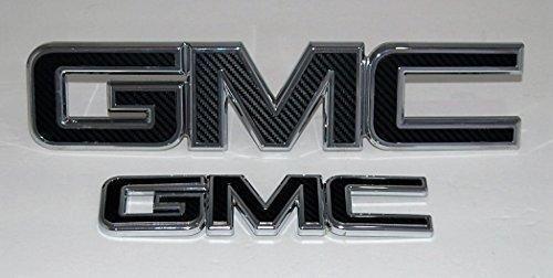 GMC Vehicle License Plate Front Auto Tag Plate Black Carbon Fiber Truck Sierra