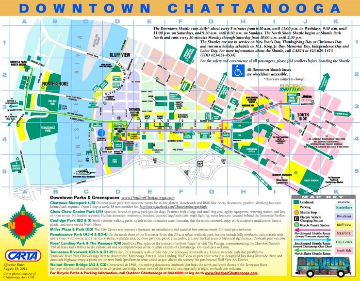 Chattanooga tourist map Maps Pinterest Tourist map Usa cities