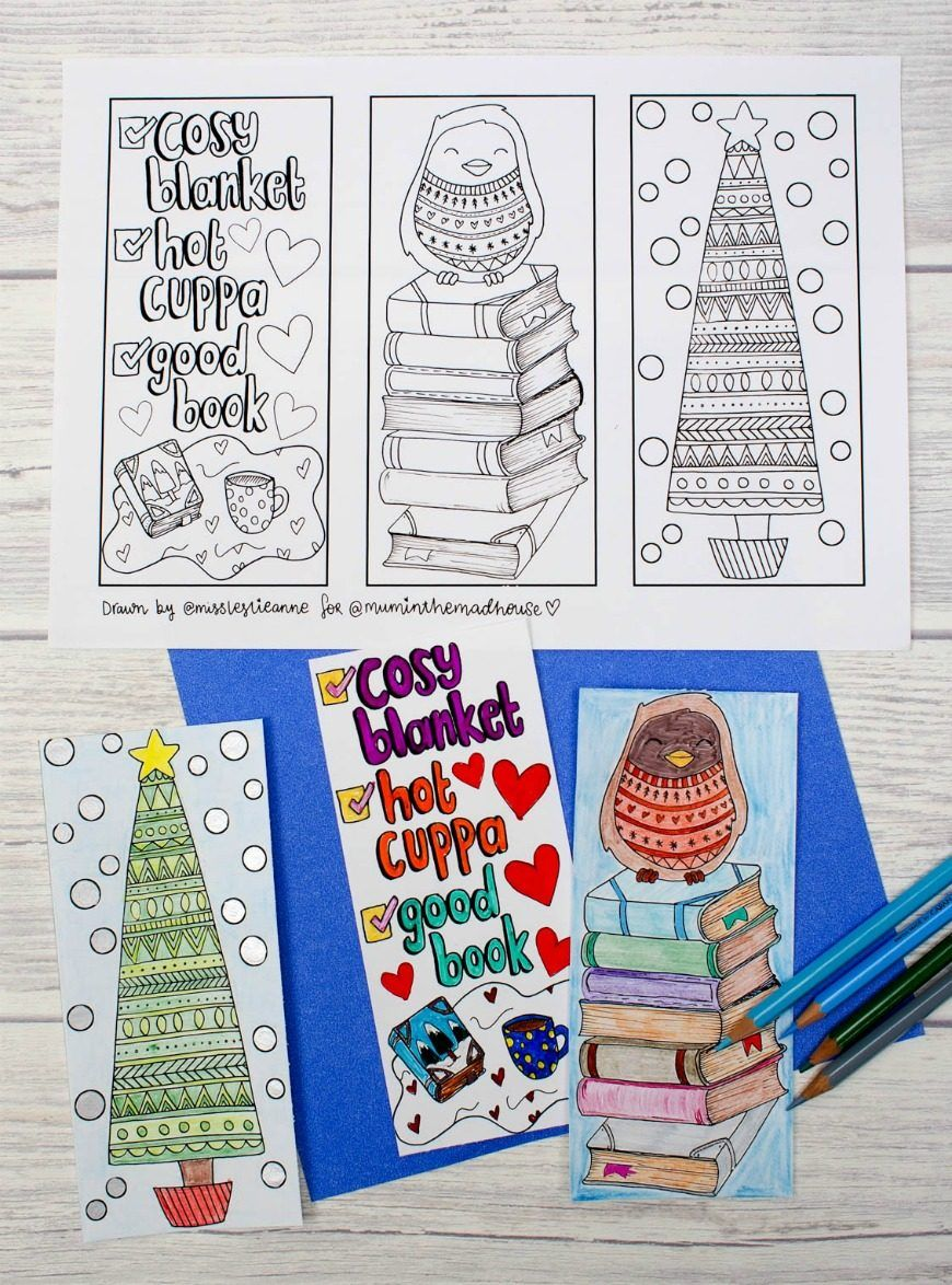 It's just a graphic of Massif Free Printable Christmas Bookmarks to Color