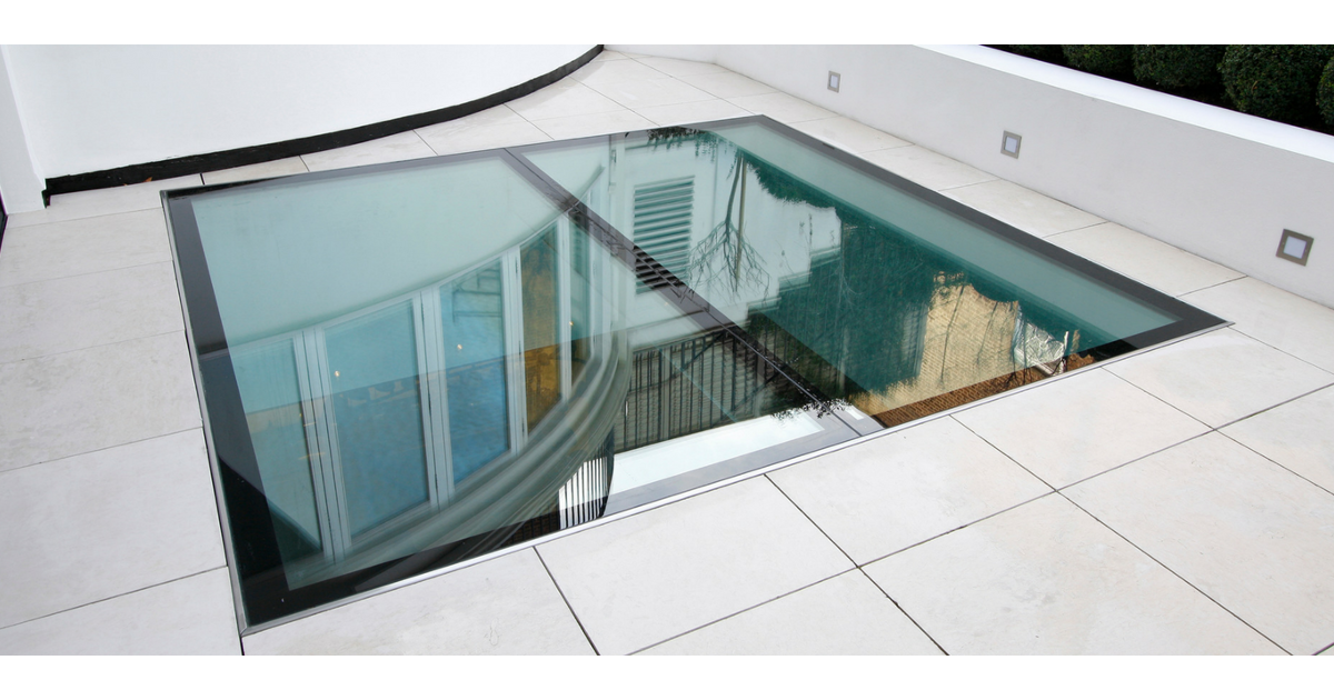 Large Glass Floor In Paving In 2020 Glass Floor Glass Roof Glass Balcony